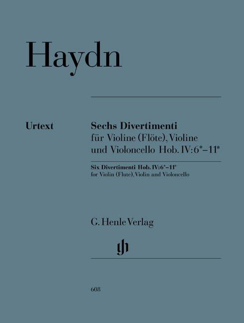HAYDN - Six divertimenti Hob. IV: 6 * -11 * for violin flute, violin and cello - Partition - di-arezzo.co.uk