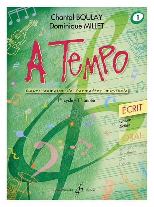BOULAY - MILLET - A Tempo Volume 1 - Ecrit - Partition - di-arezzo.ch