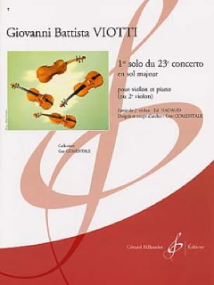 Giovanni Battista Viotti - 1st solo of the Concerto n ° 23 - Partition - di-arezzo.co.uk
