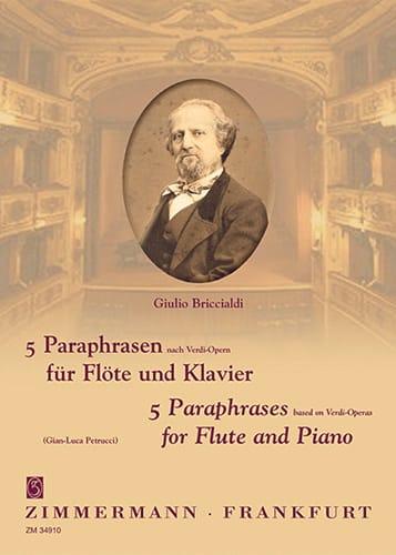 5 Paraphrasen nach Verdi-Opern - Giulio Briccialdi - laflutedepan.com