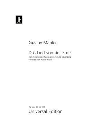 Das Lied Von Der Erde - MAHLER - Partition - laflutedepan.com