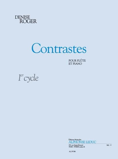 Contrastes - Denise Roger - Partition - laflutedepan.com