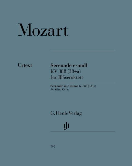 MOZART - Serenade No. 12 in C minor KV 388 384a - Partition - di-arezzo.co.uk