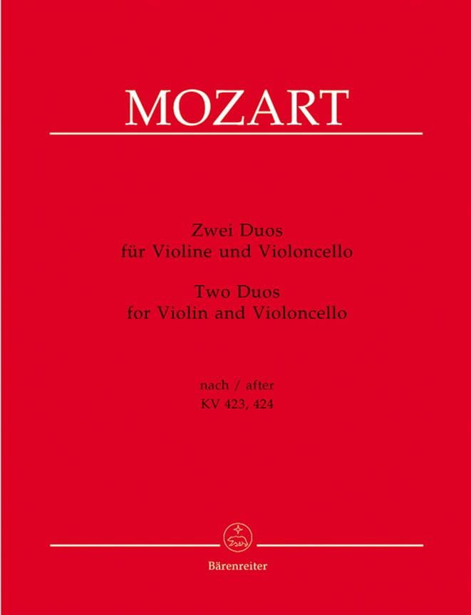 MOZART - two duets for violin and cello - Partition - di-arezzo.co.uk