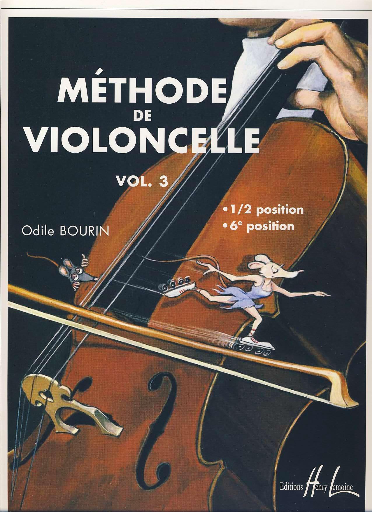 Odile Bourin - Cello Method Volume 3 - Partition - di-arezzo.co.uk