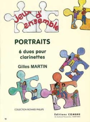 Portraits - Gilles Martin - Partition - Clarinette - laflutedepan.com
