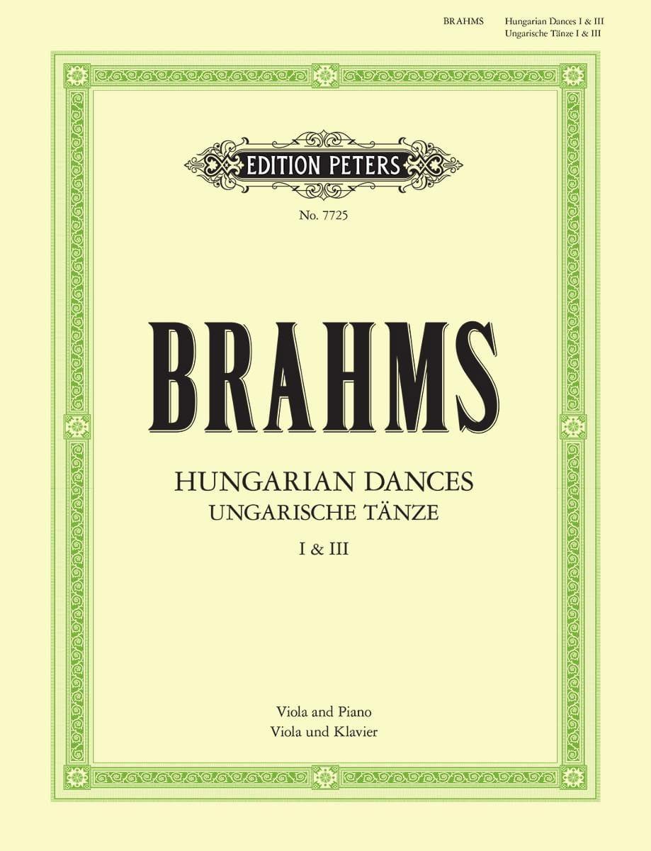 Hungarian dances n ° 1 and 3 - BRAHMS - Partition - laflutedepan.com