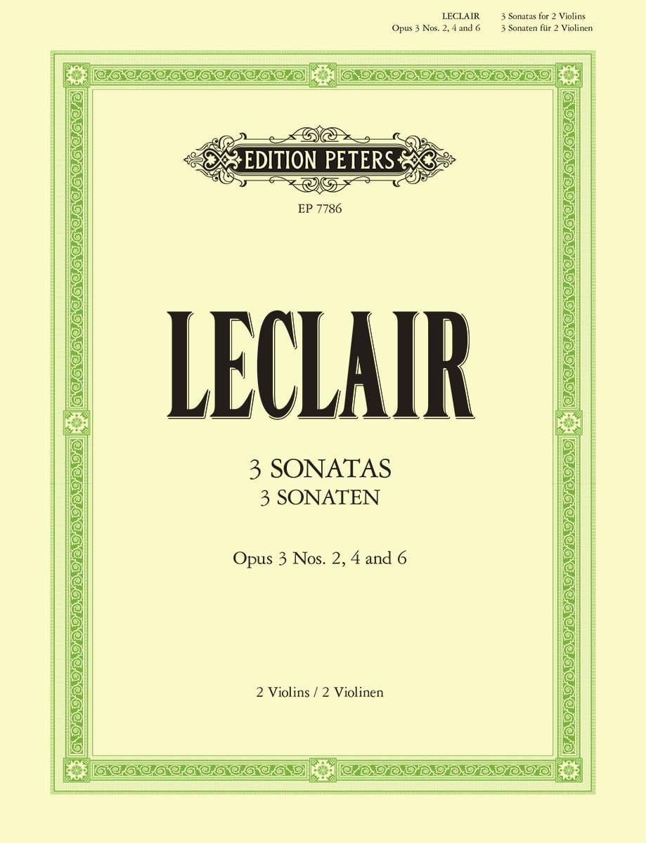 3 Original Sonatas, op. 3 - 2 Violins - LECLAIR - laflutedepan.com
