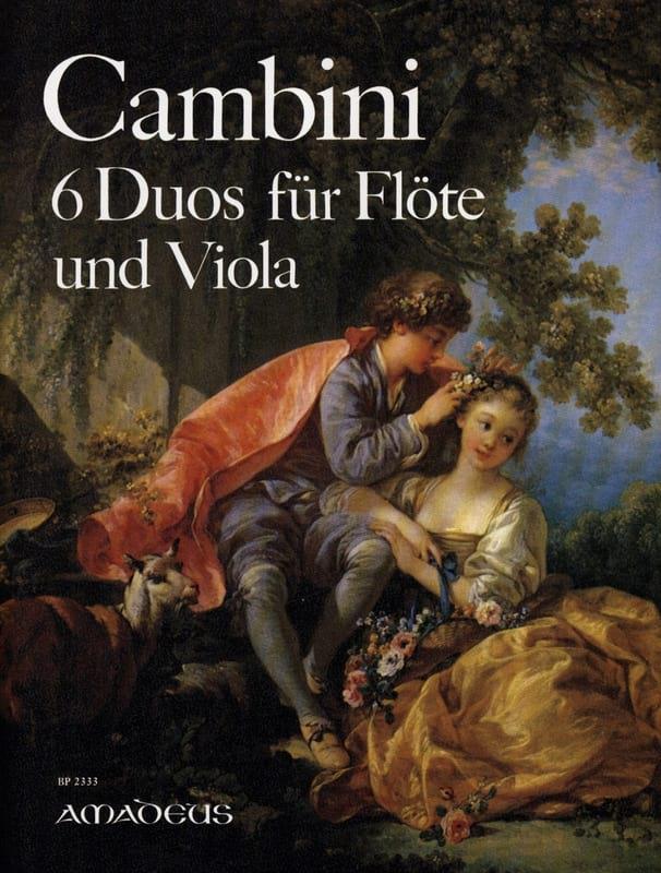 6 Duos Opus 4 - Giuseppe Maria Cambini - Partition - laflutedepan.com
