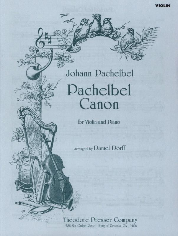 Johann Pachelbel - Canon - Violon - Partition - di-arezzo.ch