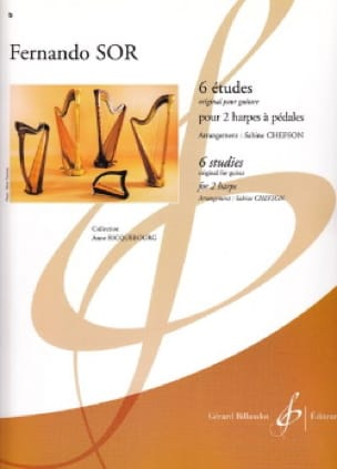 Fernando Sor - 6 Etudes - 2 Harpes - Partition - di-arezzo.fr