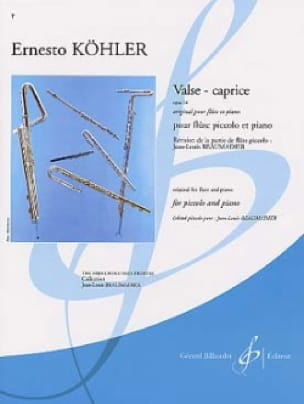 Valse-Caprice op. 14 - Ernesto Köhler - Partition - laflutedepan.com