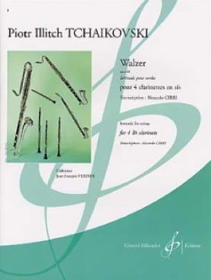 Walzer op. 48 - 4 clarinettes - TCHAIKOVSKY - laflutedepan.com