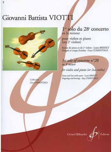 Giovanni Battista Viotti - 1st Solo of the Concerto n ° 28 - Partition - di-arezzo.co.uk