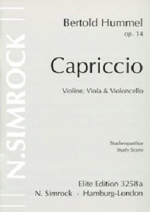 Capriccio -Stimmen - HUMMEL - Partition - Trios - laflutedepan.com