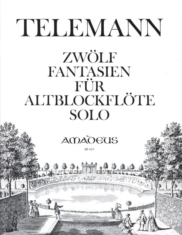 TELEMANN - 12 Fantasy - Altblockflöte solo - Partition - di-arezzo.com