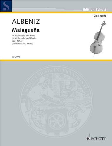 Malaguena op. 165 n° 3 - ALBENIZ - Partition - laflutedepan.com