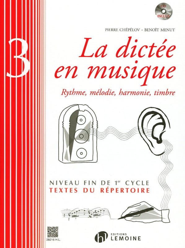Pierre CHEPELOV et Benoit MENUT - The Dictation in Music Volume 3 - Partition - di-arezzo.co.uk