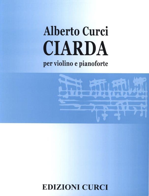 Ciarda - Alberto Curci - Partition - Violon - laflutedepan.com