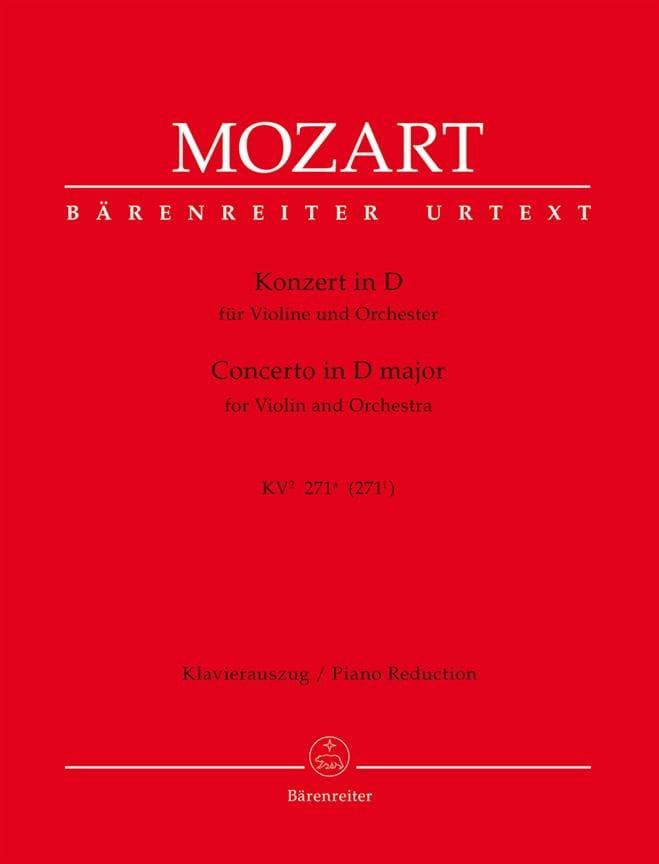 Violin-Konzert D-Dur KV 271a - Partitur - MOZART - laflutedepan.com