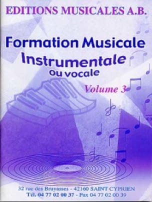 FM Instrumentale Ou Vocale Volume 3 - AB - laflutedepan.com