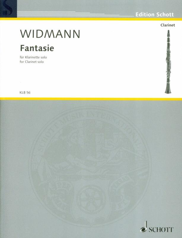Fantasie - Jörg Widmann - Partition - Clarinette - laflutedepan.com