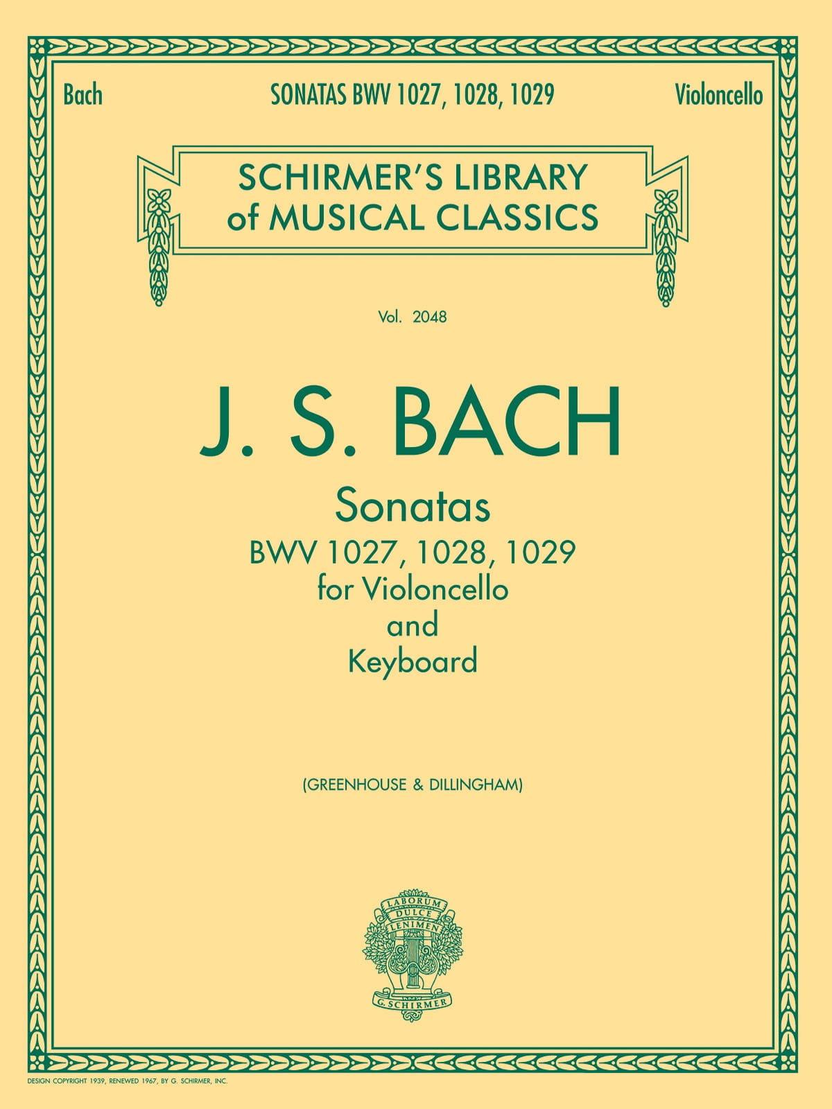 Sonates BWV 1027, 1028, 1029 - BACH - Partition - laflutedepan.com