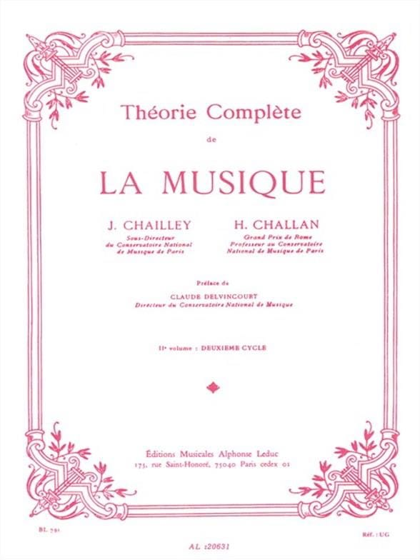 Jacques Chailley / Henri Challan - Complete Theory of Music Volume 2 - Partition - di-arezzo.co.uk