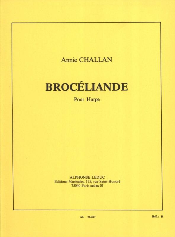 Brocéliande - Annie Challan - Partition - Harpe - laflutedepan.com