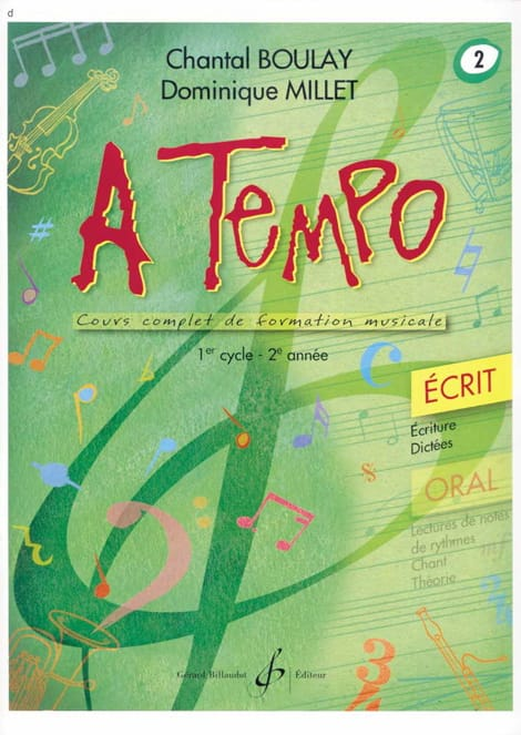 BOULAY - MILLET - A Tempo Volume 2 - Written - Partition - di-arezzo.com