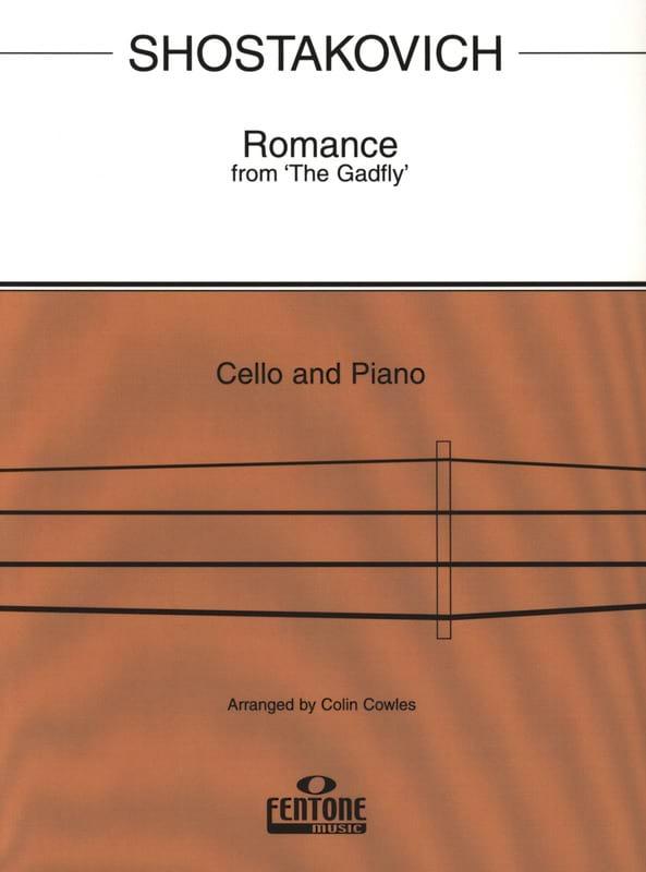 CHOSTAKOVITCH - Romance de The Gadfly - Cello - Partition - di-arezzo.es