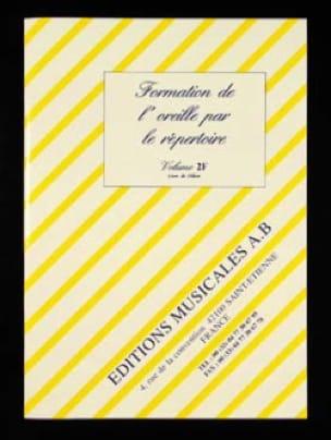 Formation de l' Oreille Par le Répertoire Volume 2f - laflutedepan.com