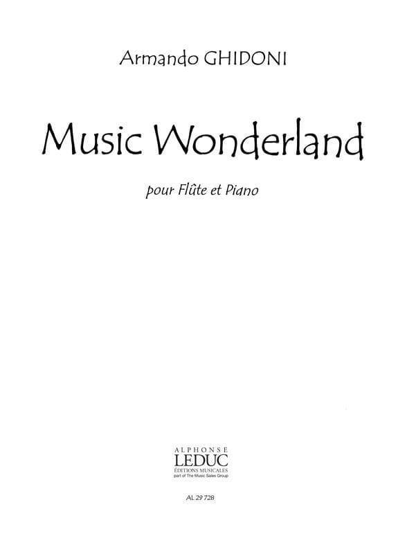 Armando Ghidoni - Music Wonderland - Partition - di-arezzo.es