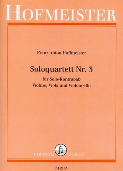 Solo Quatuor N°3 - HOFFMEISTER - Partition - laflutedepan.com