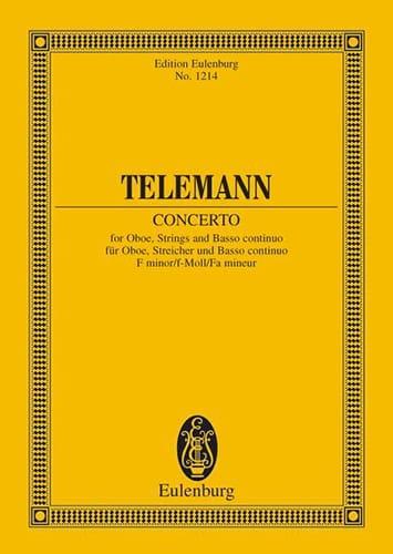 Oboen-Konzert F-Moll - TELEMANN - Partition - laflutedepan.com