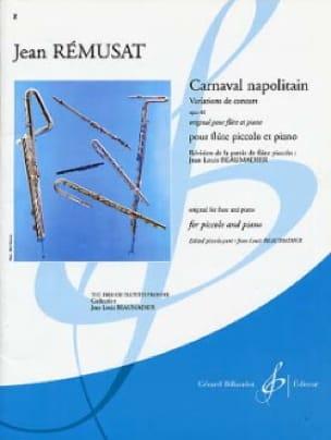 Carnaval napolitain op. 40 - Jean Rémusat - laflutedepan.com