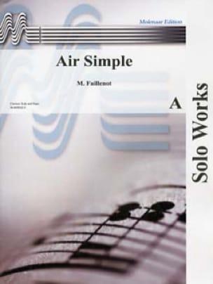 Air simple - Maurice Faillenot - Partition - laflutedepan.com