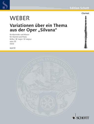 Variationen op. 33 über ein Thema aus der Oper Silvana - laflutedepan.com