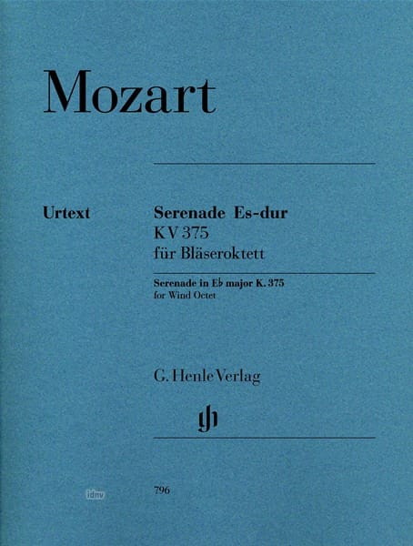 MOZART - Serenade n ° 11 in E flat major K. 375 for wind octet - Partition - di-arezzo.co.uk