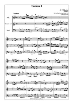 HAENDEL - Sonata n ° 1 op. 5 - 2 Oboen Englischhorn - Partitur Stimmen - Partition - di-arezzo.es
