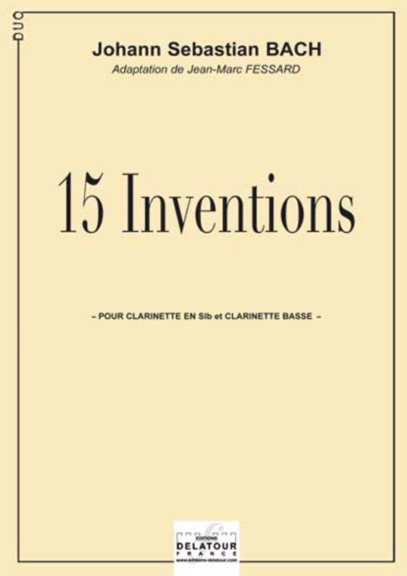 15 Inventions - BACH - Partition - Clarinette - laflutedepan.com