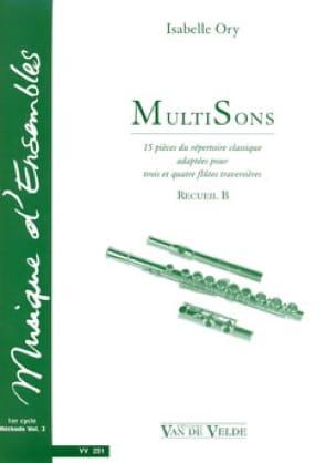 MultiSons - Recueil B - Isabelle Ory - Partition - laflutedepan.com