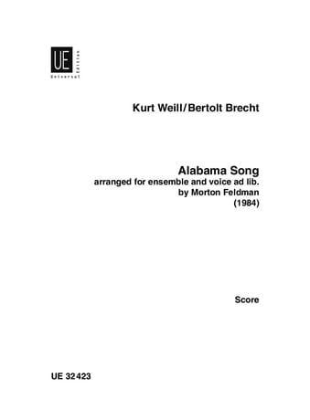 Alabama Song - Score - Weill Kurt / Brecht Bertolt - laflutedepan.com