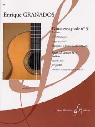 Danse espagnole n° 5 - Enrique Granados - Partition - laflutedepan.com