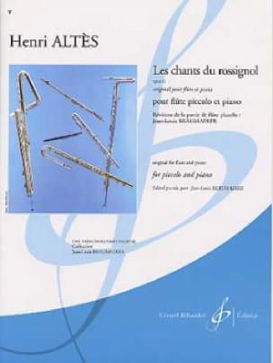 Les chants du rossignol op. 11 - Piccolo piano - laflutedepan.com