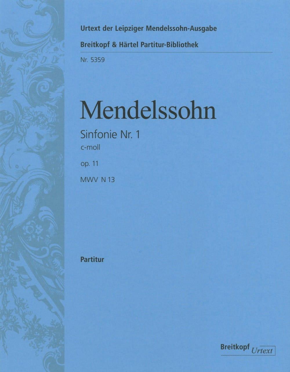 Symphonie N° 1 C-Moll Op. 11 - MENDELSSOHN - laflutedepan.com