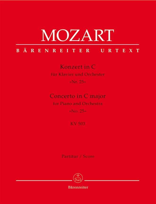 Concerto pour piano en do maj. KV 503 - Partitur - laflutedepan.com