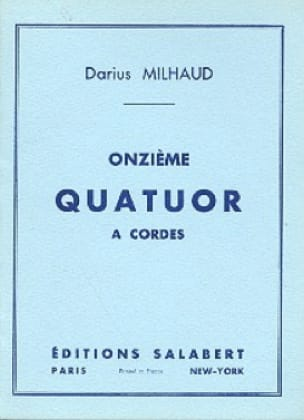 Darius Milhaud - String Quartet No. 11 - Conductor - Partition - di-arezzo.com