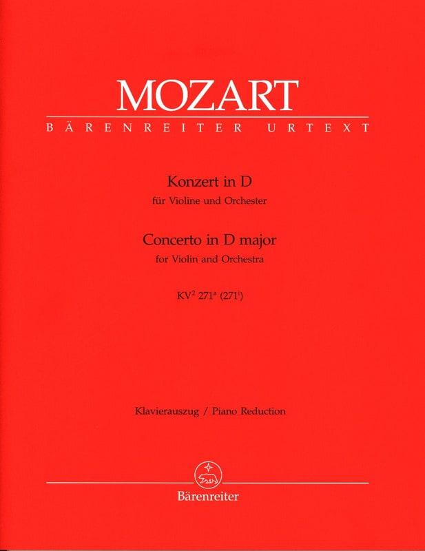 Concerto Violon en ré majeur KV 271a - MOZART - laflutedepan.com