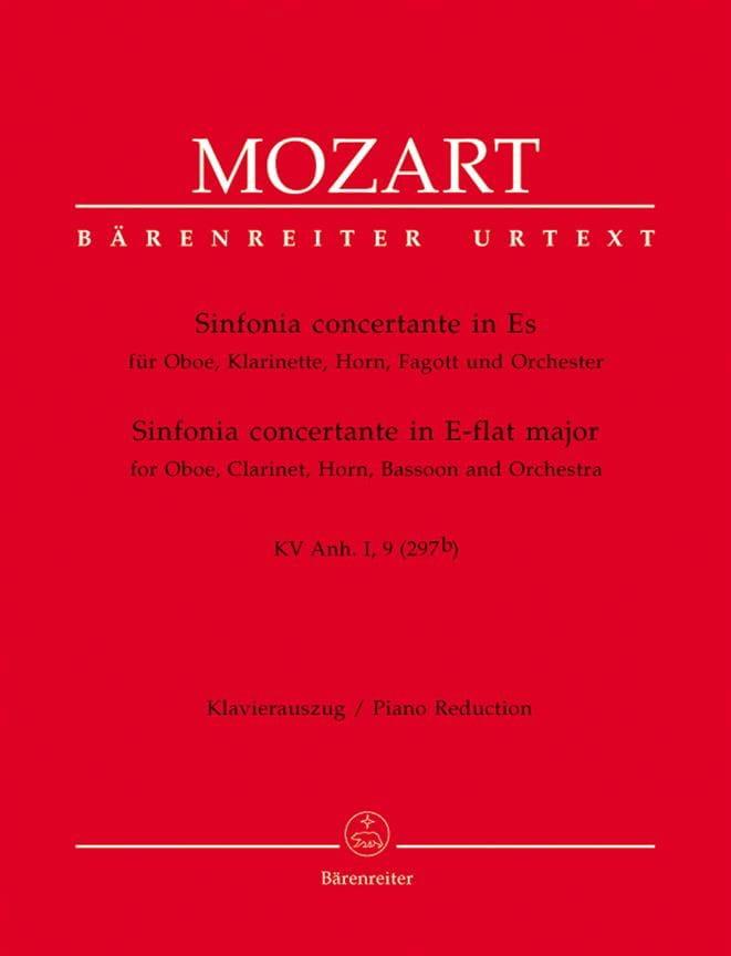 Sinfonia concertante in Es KV Anh. 1, 9 297b -Oboe Kl. Horn Fagott Klavier - laflutedepan.com